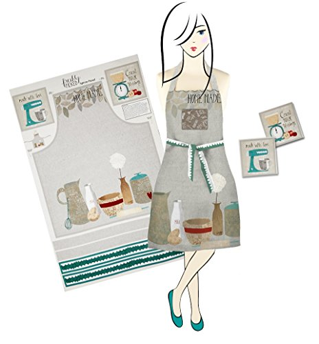 Homespun Hearth Make It Yourself - Freshly Picked Deluxe Apron & Pot Holders Kit