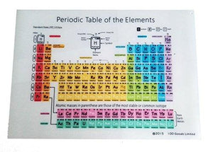 100 Goods Silicone Periodic Table Of Elements All-Weather Placement , 11.4 X 16.1 X 0.03 Inches (2, Transparent White)
