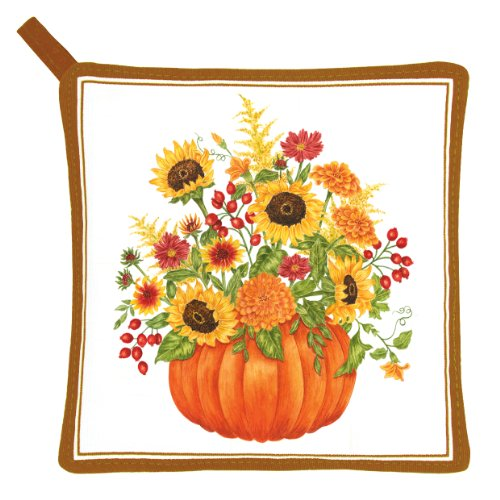 Alice's Cottage AC21452 Pumpkin Bouquet Pot Holder