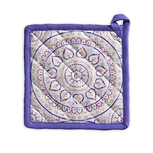 Maison d' Hermine Mandala 100% Cotton Pot Holder 8 Inch by 8 Inch