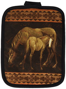 Kay Dee Designs Mare and Foal Horses Potholder