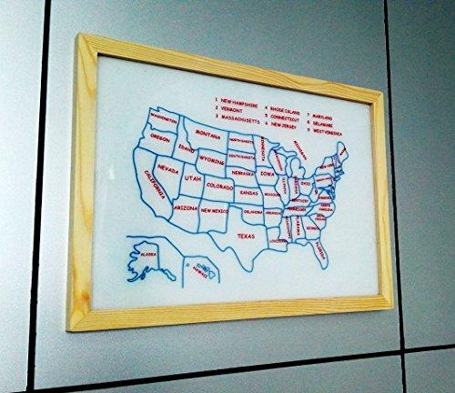 100 Goods Silicone Placemat 11.4 X 16.1 X 0.03 (2, Map Of Us)