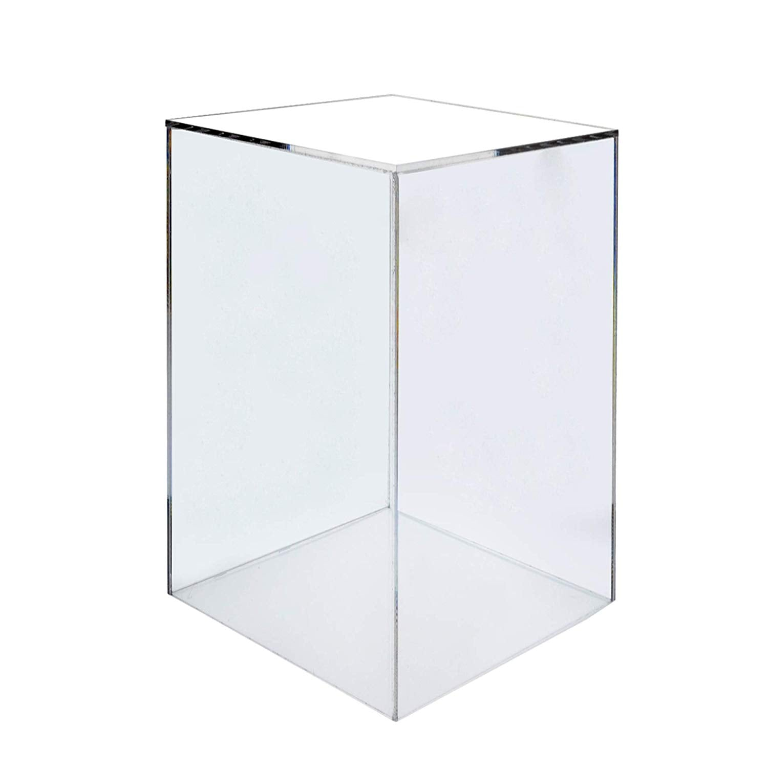 "Marketing Holders Display Cube Pedestal Sculpture Stand 12""w x 12""d x 19""h Trophy Art Figurine Showcase Clear Acrylic"