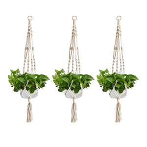 Jcoze Cotton Rope Plant Hangers Hanging Planter For Outdoor Indoor Wall Hanging Planter Holder Home Decoration 3 Pcs