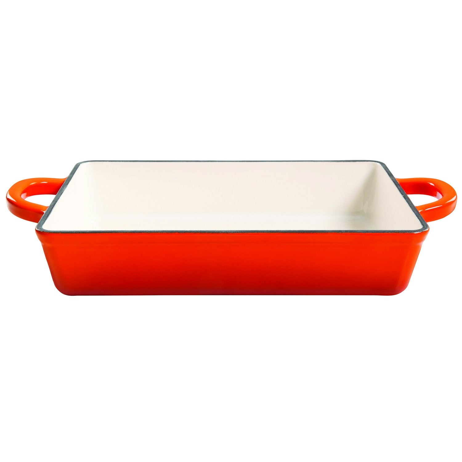 Crock Pot 112009.01 Artisan 13 Inch Enameled Cast Iron Lasagna Pan, Sunset Orange