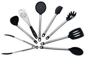 Kitchen Utensil Set - 8-Piece Utensil Set - Silicone Kitchen Utensils – Kitchen Utensils Stainless Steel - By Too Elite Products
