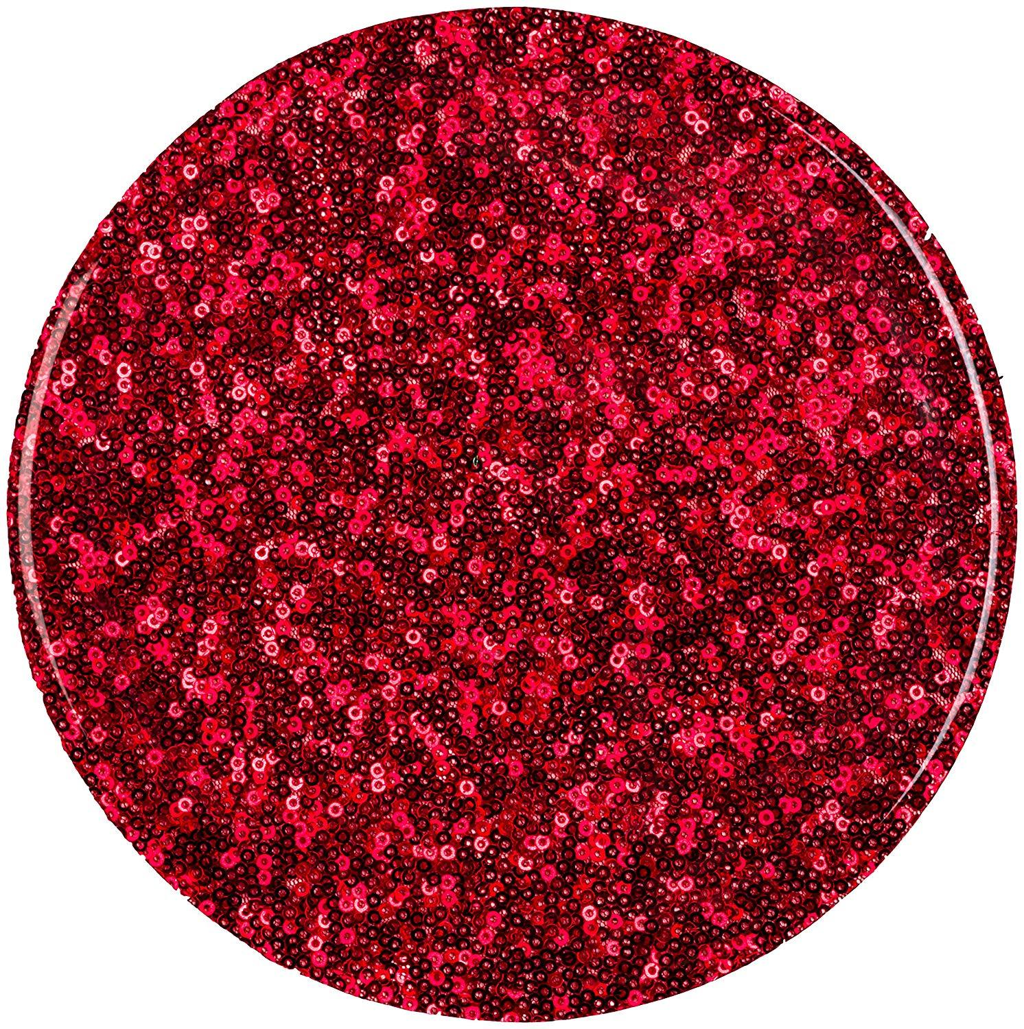 Aprons by JeM Sequin Silicone Trivet – Red – 8in