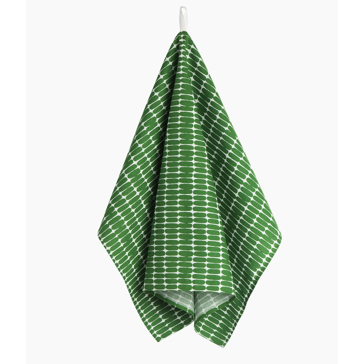 Marimekko Kitchen - Tea Towels - Alku 191 Green/White (single)