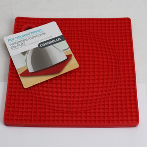 "Casabella Pot Holder Trivet :( 7""x 7"" Silicone Assorted Colo Item # 53414"