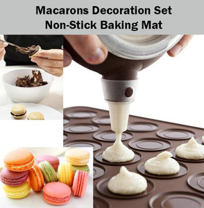 Macarons Decoration Set Macaroon Baking Mat Bake Dessert Baker Decorate Easy