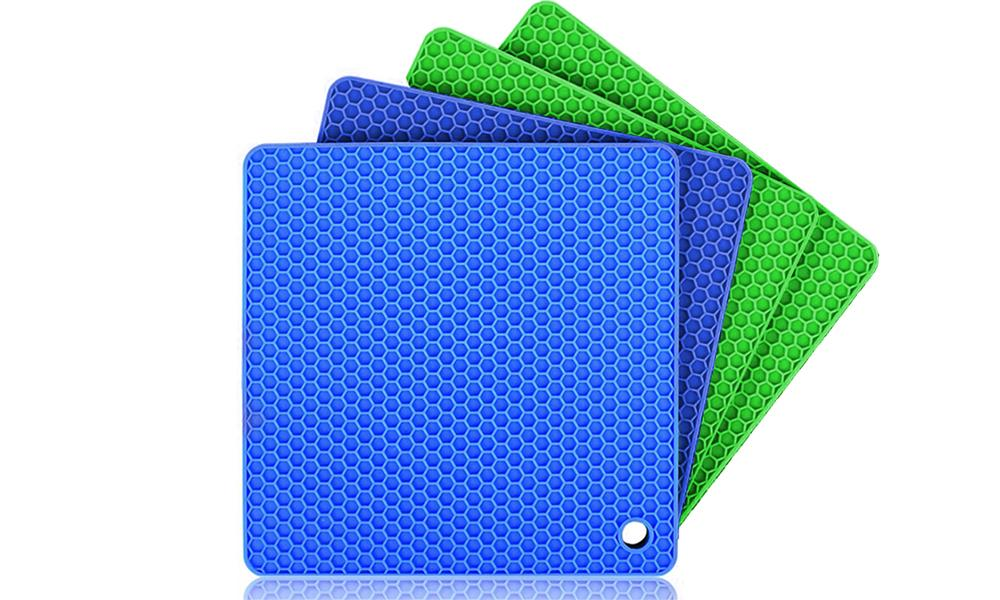 4 Pack Heat Resistant Silicone Kitchen Mats