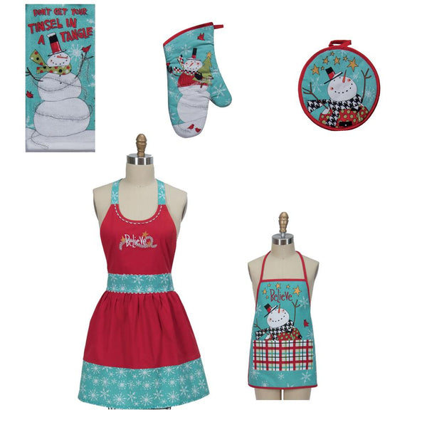 Snowman Sentiments Kitchen Towel Set