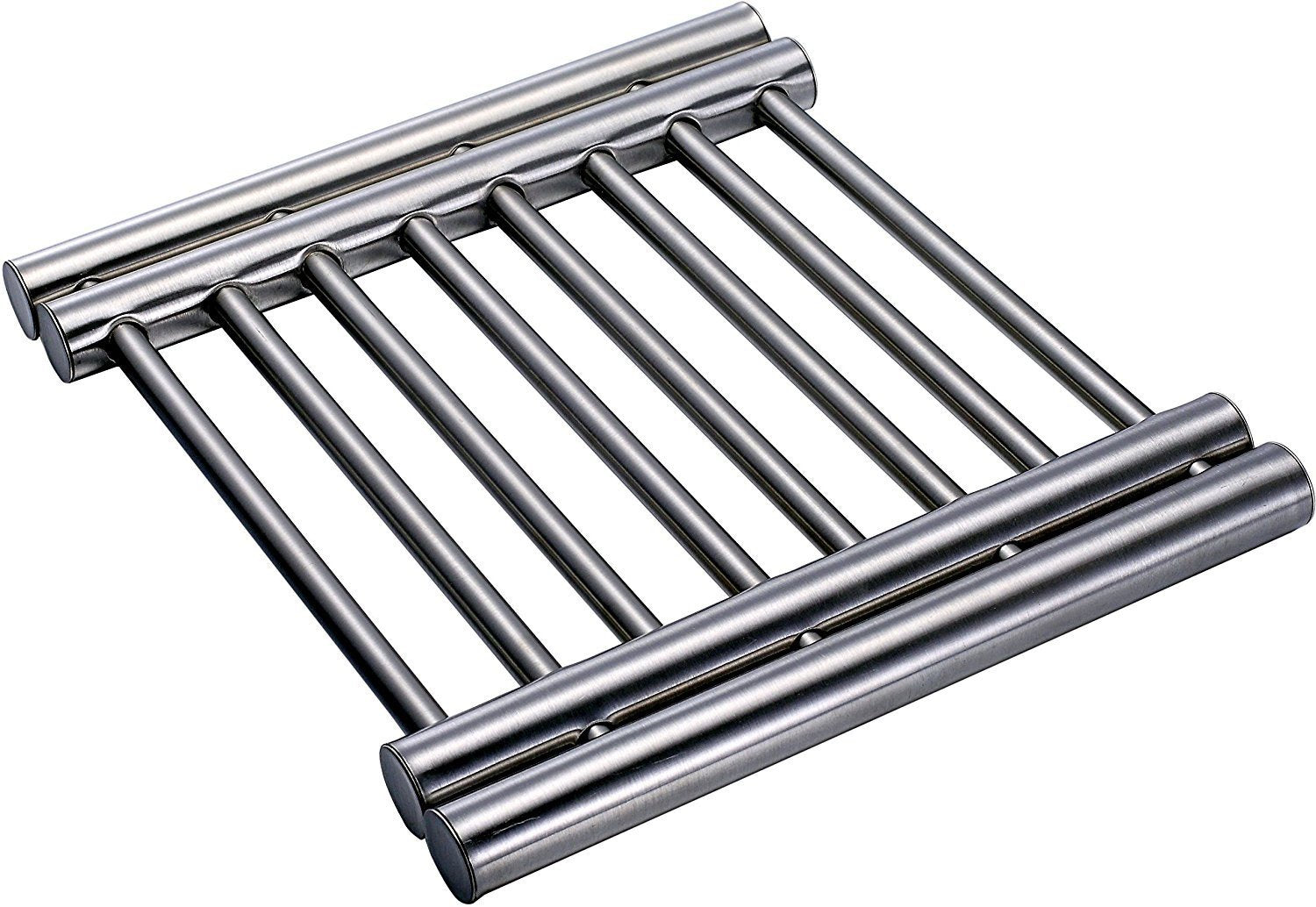 Trivets For Hot Dishes - Hot Plate Holder Metal Cooling Rack Expandable Trivet To Protect Counter Table Top Serving Of Instapot Slow Cookers - Instant Pots And Crock Pot Liners by Pro Chef Kitchen Tools