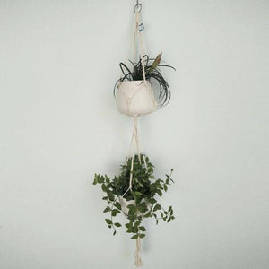 High Quality Pot Holder Macrame Plant Hanger Hanging Planter Basket Natural Fine Hemp Rope Braided Craft Drop Shipping