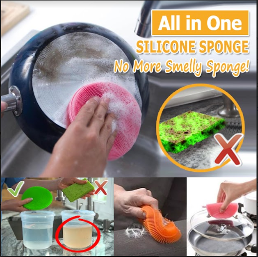 Silicone Sponge Dish Washing Brush