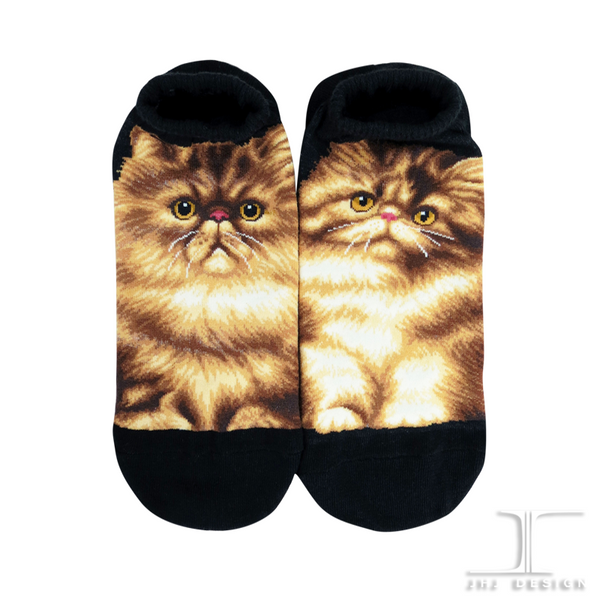 Ankle Socks- Cats - Persian Black Design