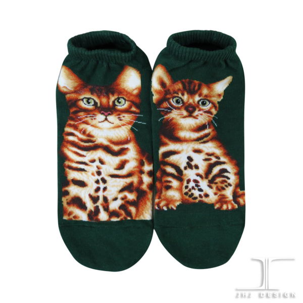 Ankle Socks - Bengal Cat Design