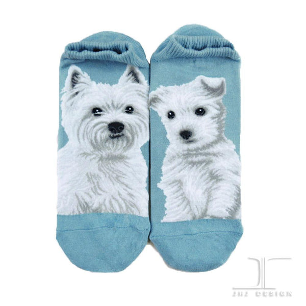 Ankle socks - Dogs - West Highland White Terrier Blue