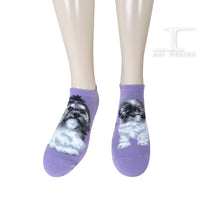 Ankle Socks - Dogs - Shih Tzu Design