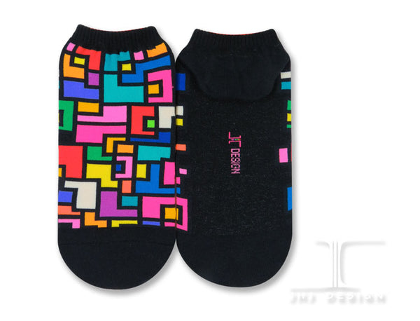 Ankle Socks - Geometric Blocks