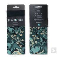 Chaossocks Flower and Birds Green
