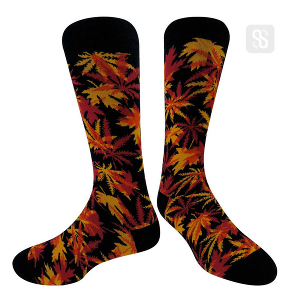 Maple Leaves and Hemp - Red