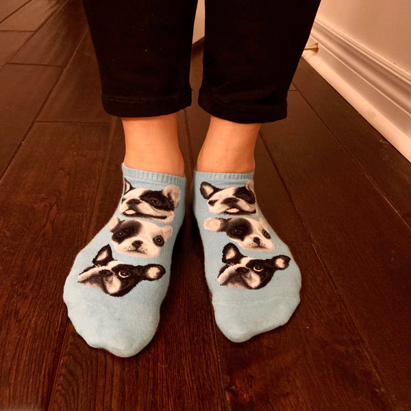 Ankle Socks- Dogs - French Bulldog Design