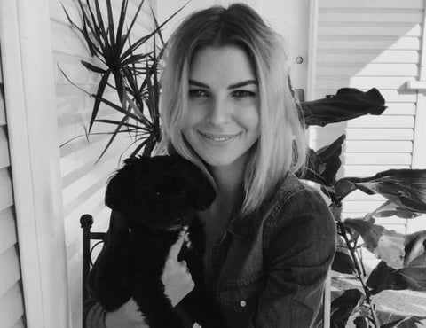 Rianna with her dog, Lola