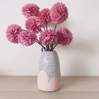Peach Poppy Seed Tapered Vase - $50