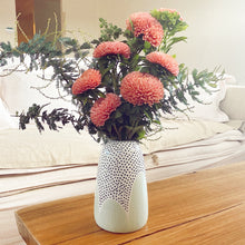 Load image into Gallery viewer, Sage Poppy Seed Tapered Vase - $50