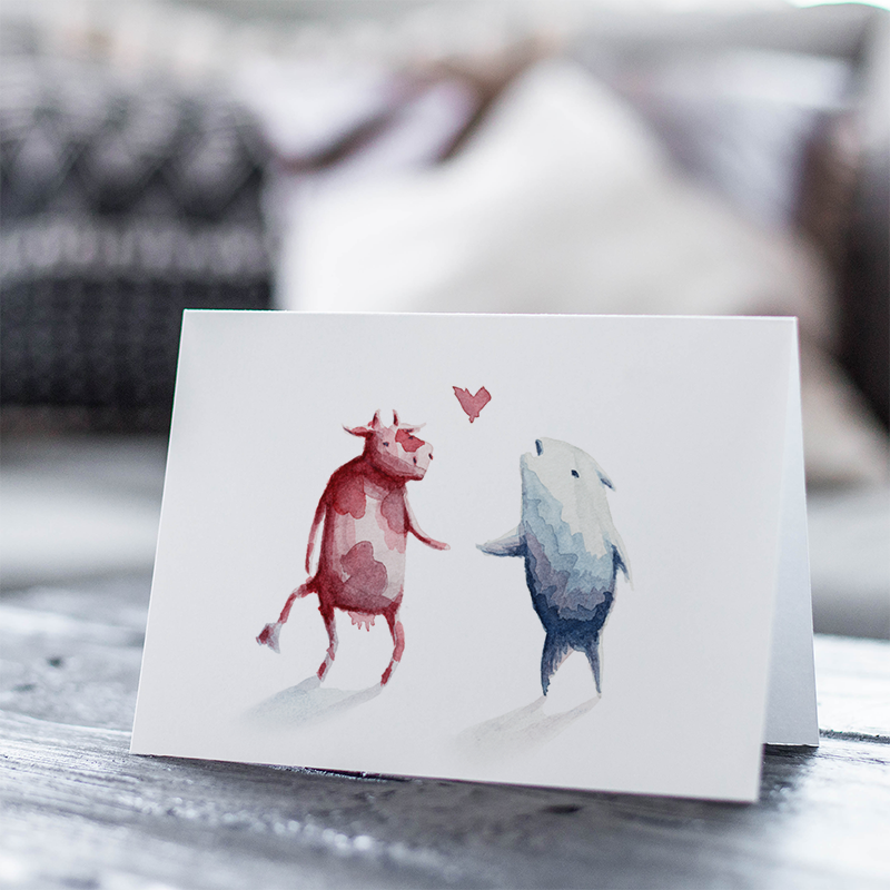 Surf and Turf Greeting Card