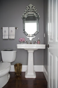 Small Spaces Powder Room Towels
