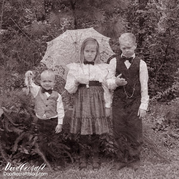 Victorian Ghost Children Halloween Photograph Editing Tutorial There is nearly nothing creepier than melancholy Victorian-era children in haunting ghost form