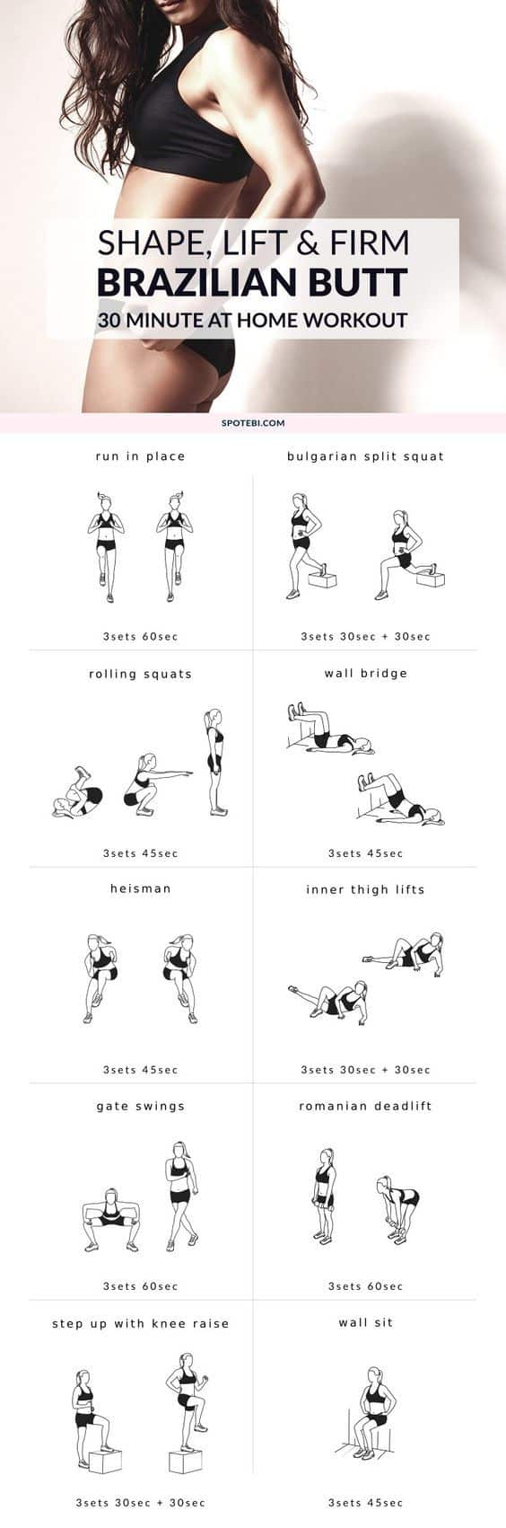 All of us women want that perfect butt! If a Kardashian butt is too big no worries, these butt workouts are designed to tone and firm up your backside to help you achieve the butt you have always wanted.