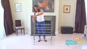 Instruction video for assembling your new Honey-Can-Do DRY-01306 metal drying rack.