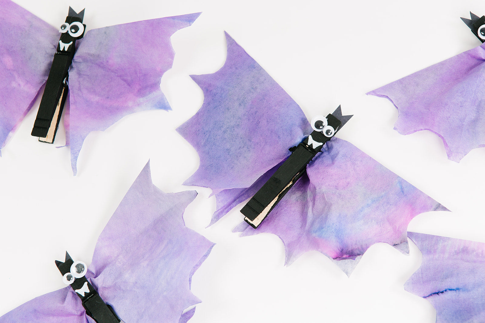 What's Halloween without a few bats in the belfry?   These Coffee Filter Halloween Bats might make bats a little less scary and are super easy to make.