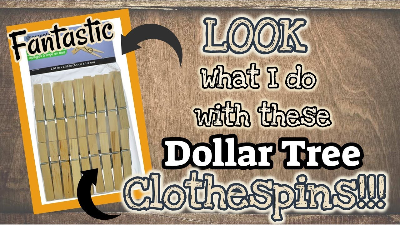 Come see what I do with these Dollar Tree CLOTHESPINS! What will I transform them into! These are a GREAT item at the Dollar Tree and there are so many ...