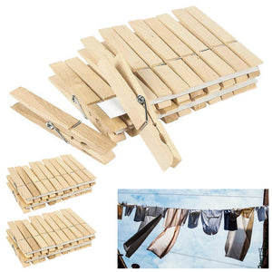 "120 Pack Wooden Clothespins 2 7/8"" Large Clothes Pegs Spring Laundry Arts Crafts"