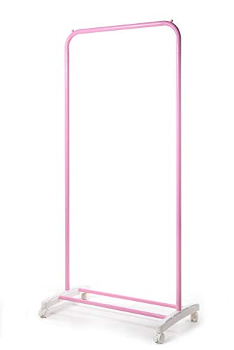 LE JUE Single Hanger Rack Clothes Garment Rack (Pink)