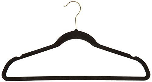 Inspired Living by Mesa (suit-clothes-hangers, ((25 Pack) Heavy Duty, BLACK/GOLD