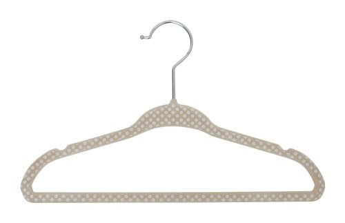 Delta Children Kids Velvet Hanger, Beige, 30 Count