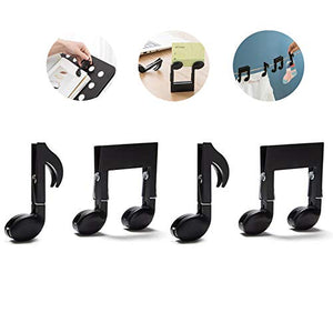 ANTIMAX 4 PCS Decorative Laundry Hangers Clip Plastic Music Symbol Clothespin Card Tool Pegs Memo Note Multifunctional Food Bag Sealing Clips Pegs