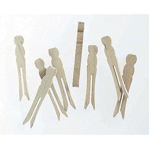 210 Mini Wood Flat Clothespin No Springs 2.5  Wedding Craft Clothes Pins