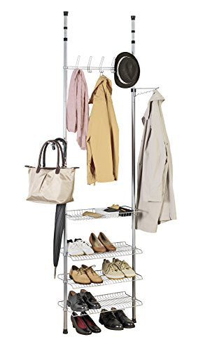 WENKO Appolon Adjustable Organization Telescopic Clothes Rack System