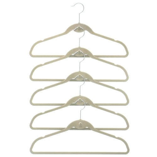 50 Pack ClutterFREE Cascade Hangers - Ivory