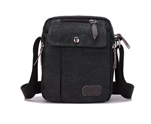 Heavy-Duty Canvas Small Messenger Bag Classic Multi-pocket Mini Shoulder Crossbody Bags Travel Purse