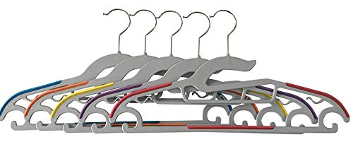 Jeronic 30 Pack Light-Weight Clothes Hangers Non-Slip Durable Clothes Hanger Plastic Hangers Perfect for Pants, Dress, Jacket, Underwear and Shirt