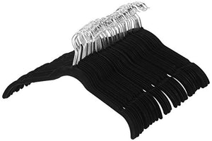 AmazonBasics Velvet Shirt Dress Clothes Hangers, 100-Pack, Black