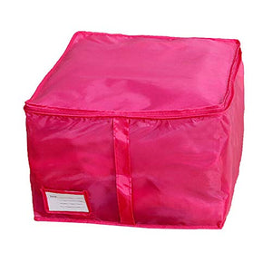 FarJing Storage Boxes Small Size Clothing Storage Boxes Quilts Sorting Pouch Underwear Socks Organizer (Hot Pink)