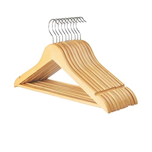 CGF-Drying Racks Hanger Solid Wood Pants Rack A Pack of 10 for Suit Skirt Jacket Size (45x23x1.2) cm